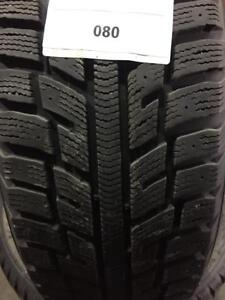PNEUS HIVER USAGÉS / USED WINTER TIRES 215/55R17 21555R17 98T KUMHO KW22