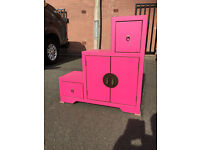 Pink Oriental Storage, great colours, in good condition feel free to view free local delivery