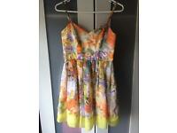 Vintage Inspired Floral Mini Dress size 8
