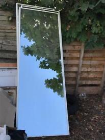 Sliding glass wardrobe doors x 3
