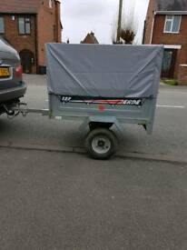 ERDE 122 TRAILER WITH MESH HIGH SIDE AND COVER &EXTRAS
