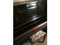 Edwardian piano and stool