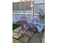 Bistro set purple