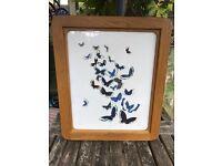 """Jenny Frean """"Butterflys"""" poster in solid oak frame"""