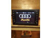 Audi 7.2 inch Hd 1080p Dvd Player Full European GPS Navigator Map Bluetooth Usb/Aux/Sd
