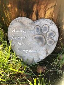 Dog Paw heart memorial