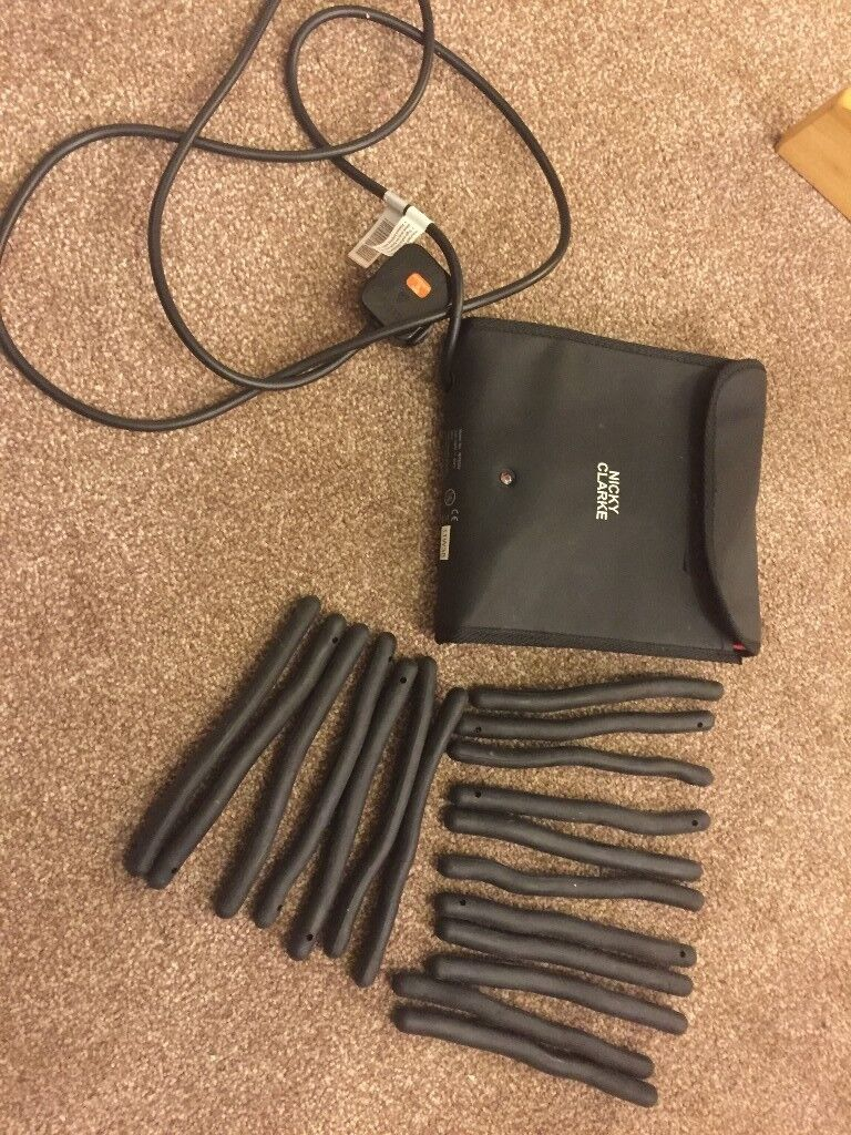 Free Delivery Or Post Nicky Clarke Flexi Stylers Heated Rollers Bendy Rods Curlers Travel Pouch