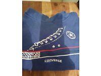 Kids Blue Converse Hoody Age 4-5