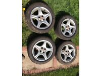 "15"" MG ALLOY WHEELS AND TYRES"