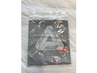 Palace Gray Tri-Curtain T Shirt, Deadstock, unused. Size Medium.