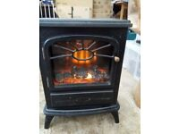 Focal Point ES2000 Mark1 Freestanding Electric Stove/Fire in Black