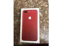 Iphone 7plus red limited edition 128GIG