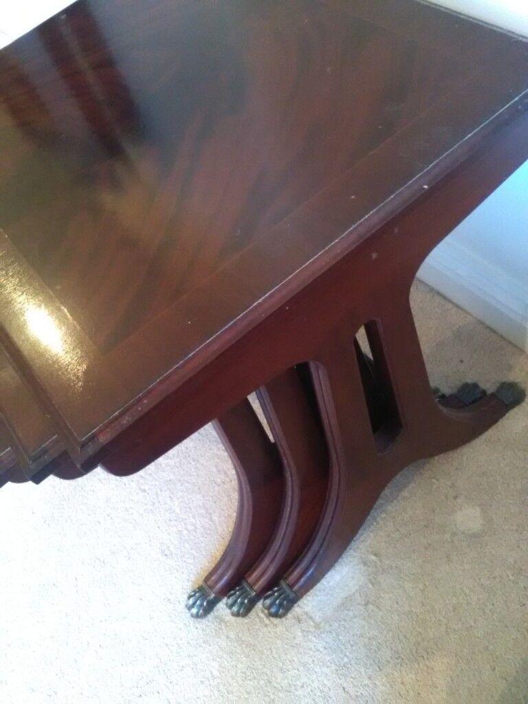 Nest Of Tables 3 Tables Claw Feet Dark Wood In Thornbury