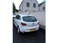 Seat Ibiza Toca 1.4 litre Petrol , White , 2014. 3 door