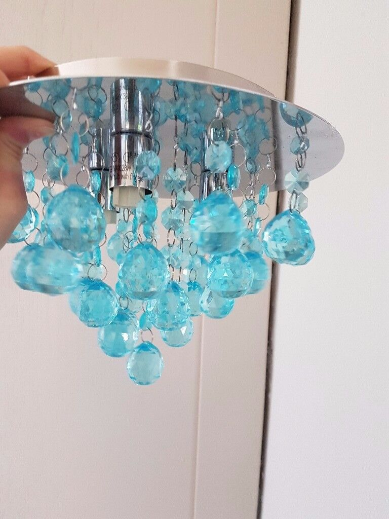 Glass droplet ceiling light blue in kingswells aberdeen gumtree glass droplet ceiling light blue mozeypictures Gallery