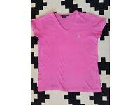 Ralph lauren pink tshirt size Xs