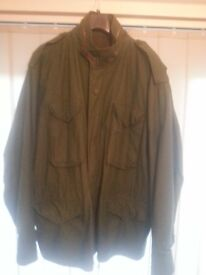 U.S. Army M65 Field Jacket with quilted Liner and trousers Xl size
