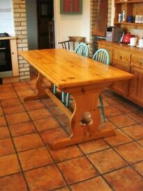 Solid pine handcrafted kitchen table