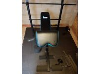 Weight Bench including Weights