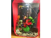 Biorb 60l fish tank. In chilli red
