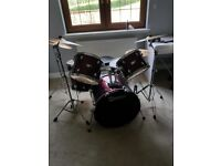 Percussion Premier Olympic Stage 20 In Complete Drum Kit, Wine Red Wrap+ Sabian B8 Cymbals