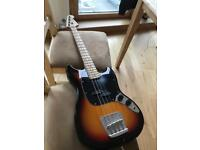 Squier Mustang bass guitar by Fender