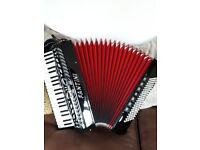Fantini 120 bass piano keyed accordian