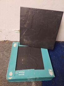 Boxed Black Floor Tiles