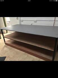 Heavy duty plywood steel workbenches