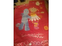 In The Night Garden single duvet cover and pillowcase