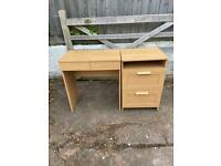 Dressing table and drawer
