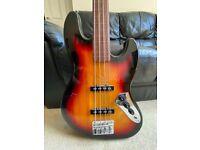 Harley Benton Fretless Jazz Bass