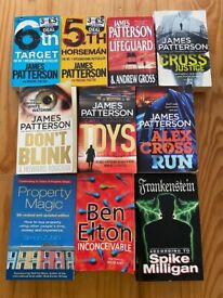 10 Books - James Patterson and others