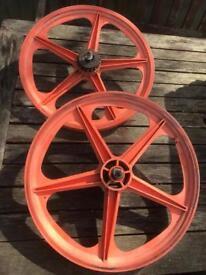 BMX skyway mag wheels. Raleigh burner bmx style
