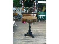 Vintage heavy cast iron dolphin table