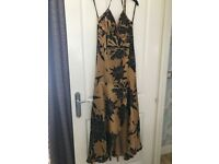 Frank Usher Evening/Prom Silk Dres Size 14 BNWT