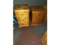 Selection of pine bedroom furniture in very good condition