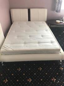 Designer Double Bed + Orthopaedic Mattress