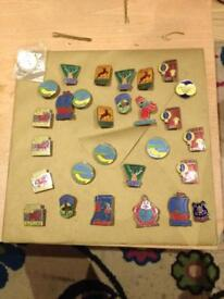 Collectable pin badges