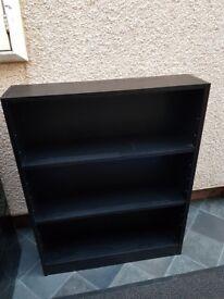 Small black bookcase