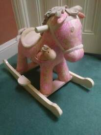 Rocking Horse - pink flowers