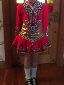 Irish dance dress age 8-10 yrs