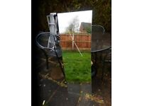 IKEA WALL MIRROR, V.GOOD CONDITION WITH FITTINGS £5