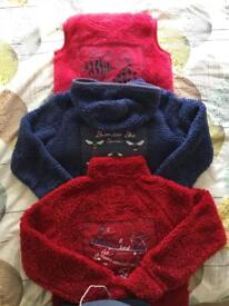 3 x Fat Face Fleeces Age 10-13 Years