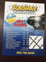 Car wash and detailing services is hiring