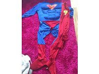 Mens Medium Deluxe Superman Outfit