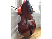 3/4 student double bass, new, ideal for beginners and younger musicians