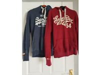 Two Superdry hoodies size small