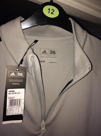 Men's Adidas 3 stripe zip golf jacket