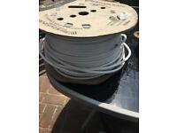 Used Prysmian White FP200 Gold Electric Cable.